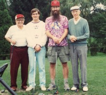 Glen Hay and friends on the links